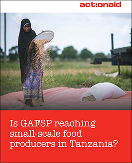 Is GAFSP reaching small-scale food producers in tanzania