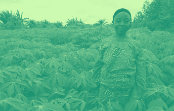 Woman on the farm in Benin