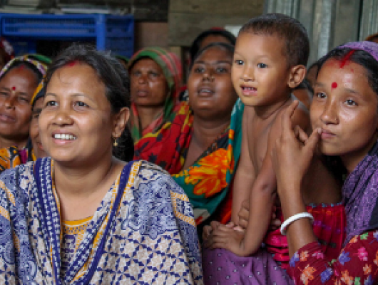 women and children beneficiaries in Bangladesh